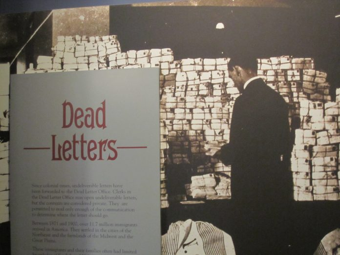 Dead Letter exhibit at the National Postal Museum in Washington, D.C.