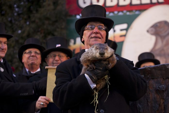 Groundhog Day from Gobbler's Knob in Punxsutawney, Pennsylvania