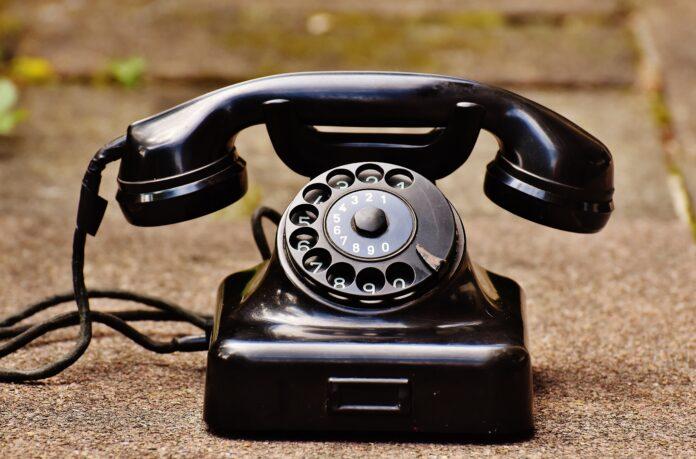 A Bakelite telephone