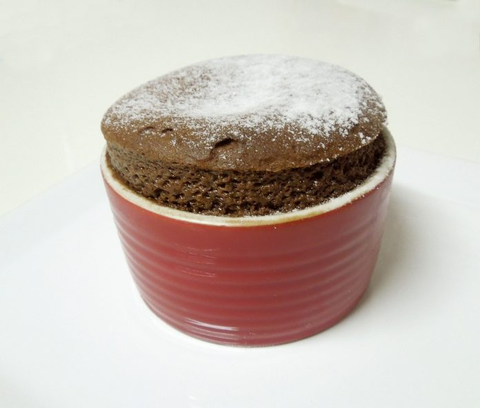 A chocolate soufflé
