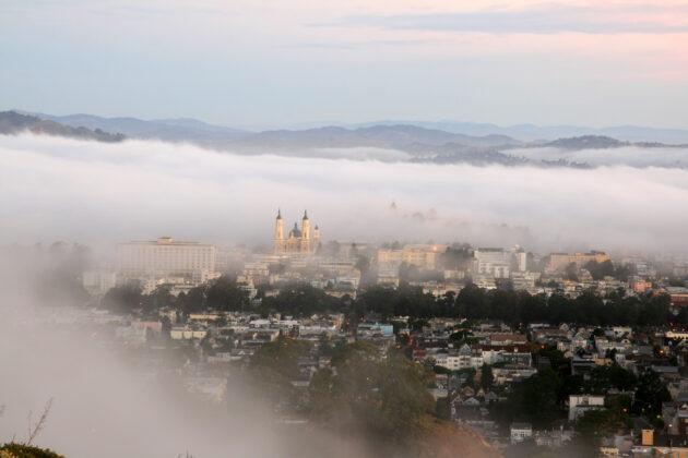 Early morning fog over San Francisco