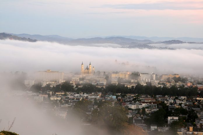 Early morning fog over San Francisco