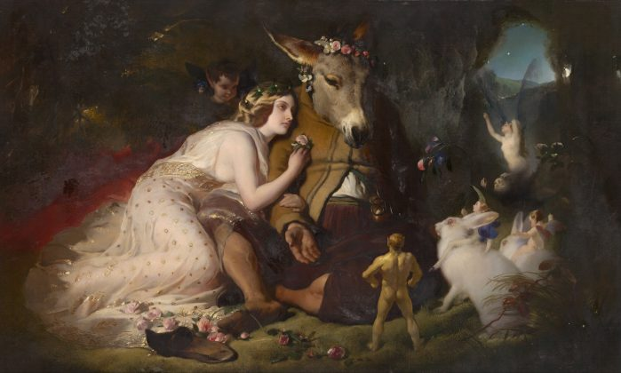 Edwin Landseer - Scene from A Midsummer Night's Dream. Titania and Bottom