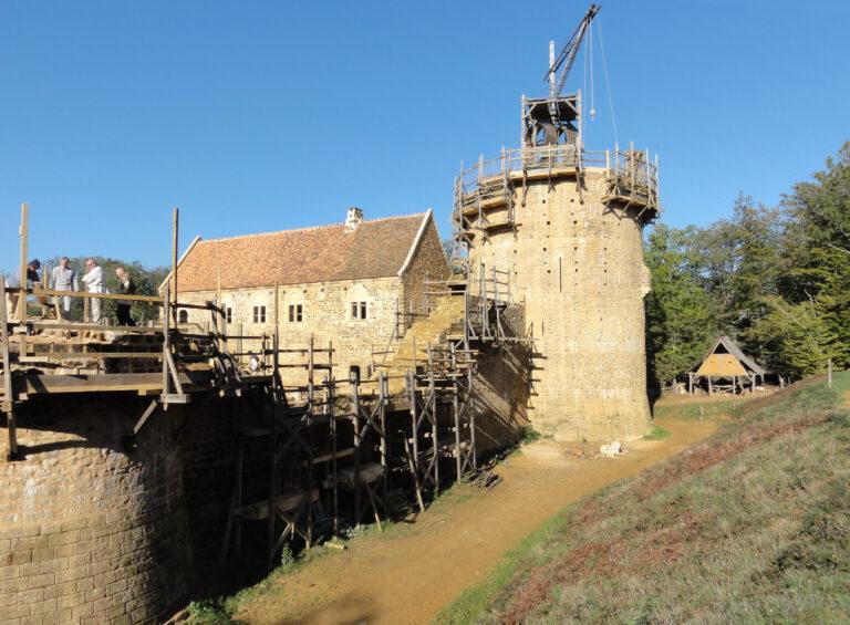 A portion of Guédelon castle under construction in 2012
