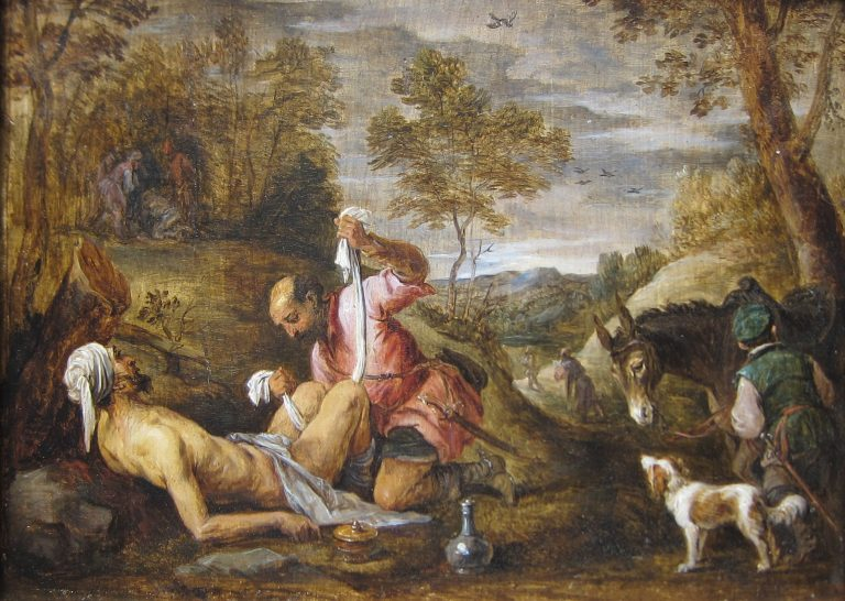 'The Good Samaritan' by David Teniers the younger after Francesco Bassano