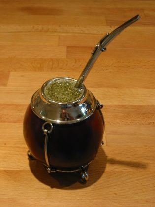 Mate in a traditional gourd with a bombilla