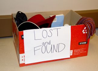 A lost-and-found box