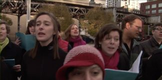 A complaints choir in Chicago, 2007