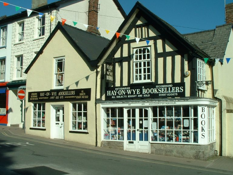 A bookstore in Hay-on-Wye