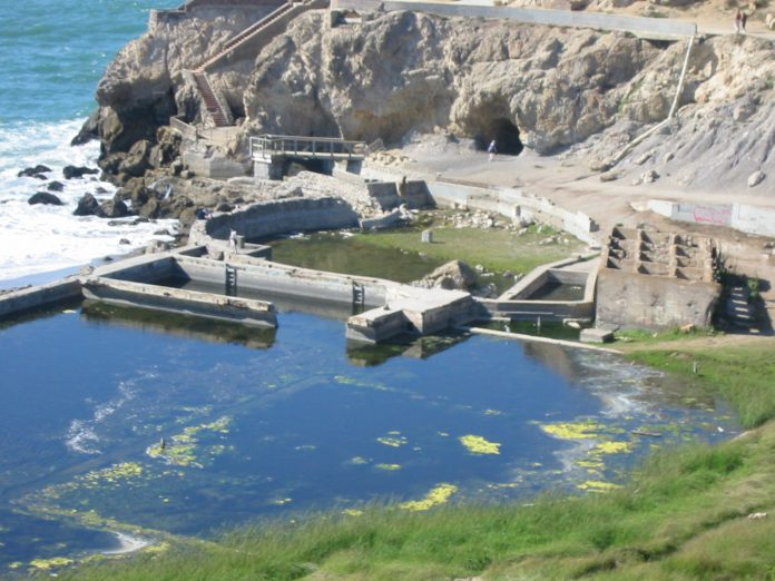 The ruins of Sutro Baths
