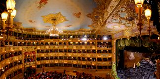 Panorama of the La Fenice theatre interior, 2015