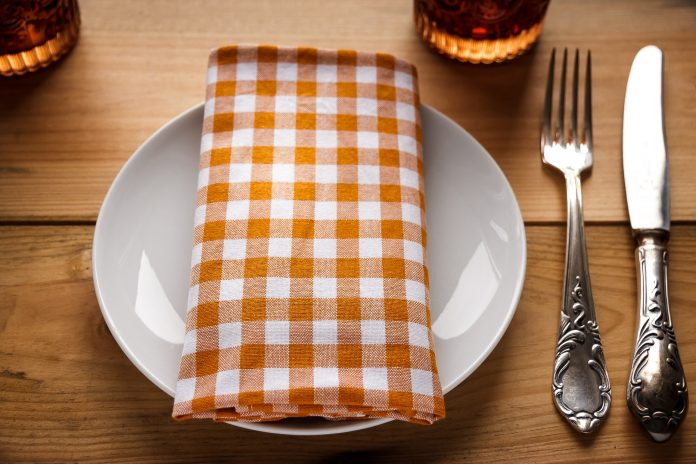 A place setting at a table